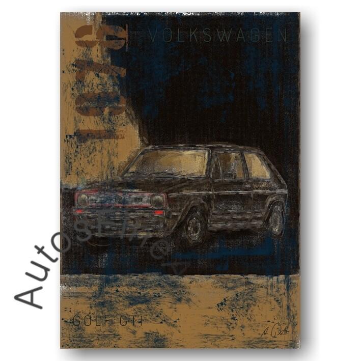 VW Golf GTI - Kunstdruck No. 136Plate DIN A3