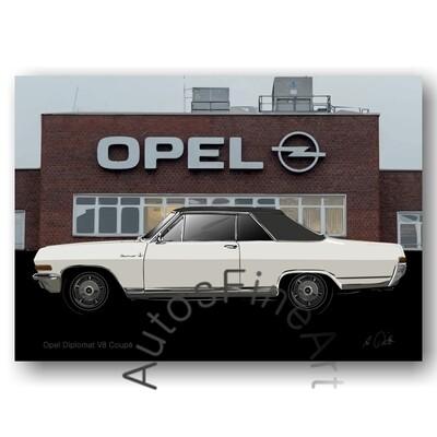 Opel Diplomat V8 Coupé - HD Aluminiumbild No. 166special