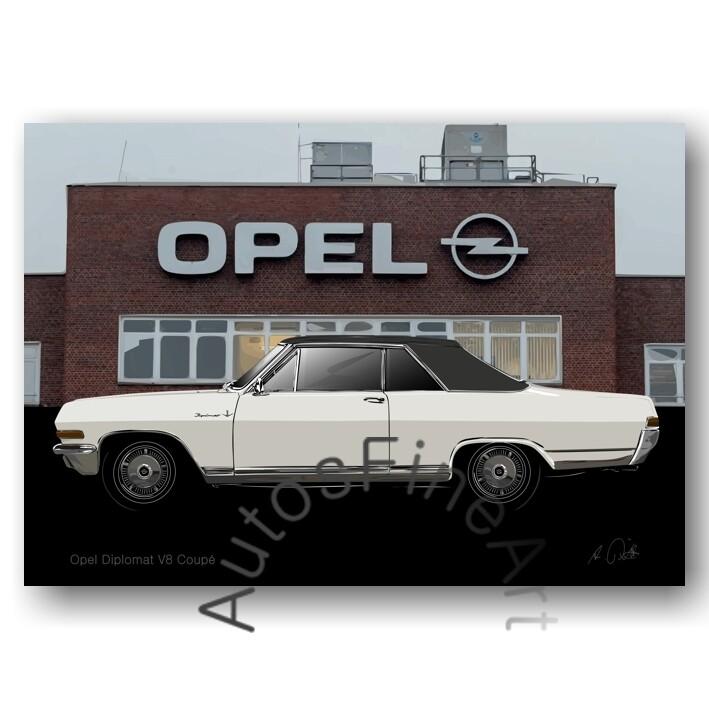 Opel Diplomat V8 Coupé  - Kunstdruck No. 166special