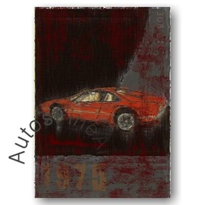 Ferrari 308 GTB - Kunstdruck No. 18Plate