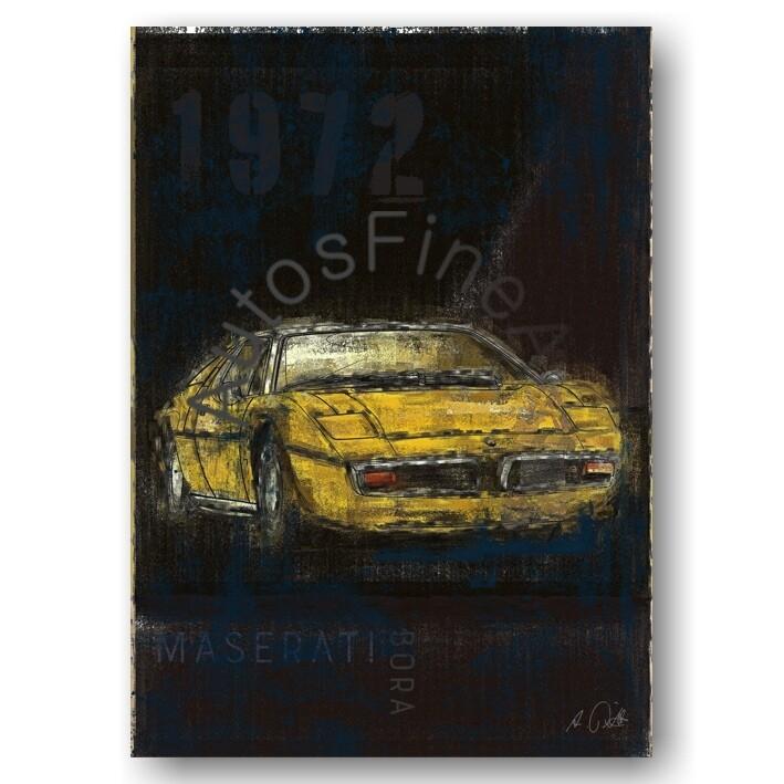 Maserati Bora -Kunstdruck No. 37Plate DIN A3