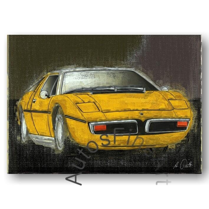 Maserati Bora - Kunstdruck No. 37vintage