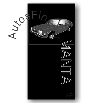 Opel Manta cc - HD Aluminiumbild No. 164named sw