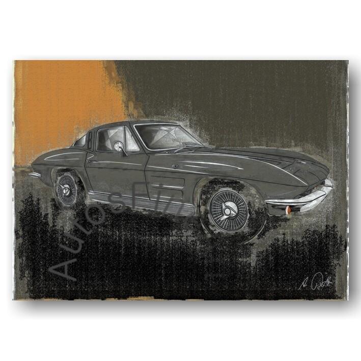 Corvette Sting Ray C2 - Kunstdruck No. 156vintage