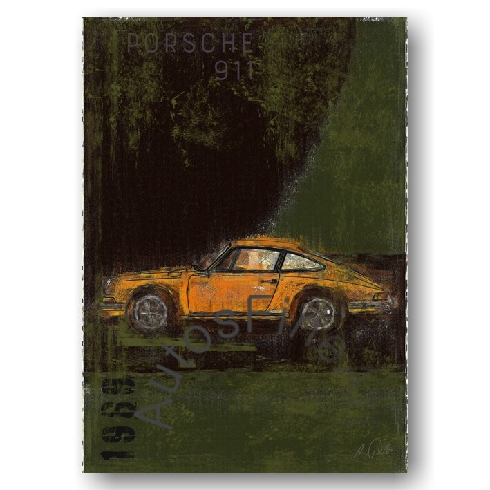 Porsche 911 T - Kunstdruck No. 111Plate