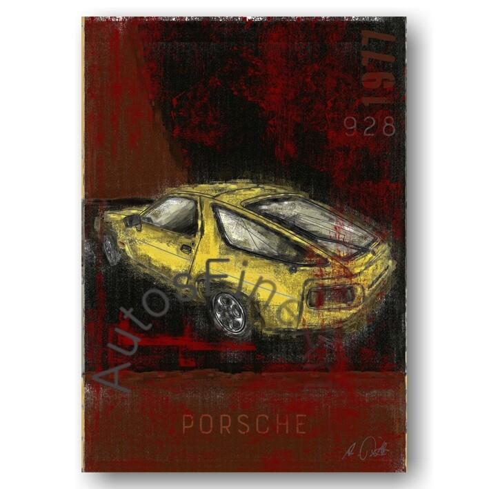 Porsche 928 - Kunstdruck No. 137Plate DIN A3