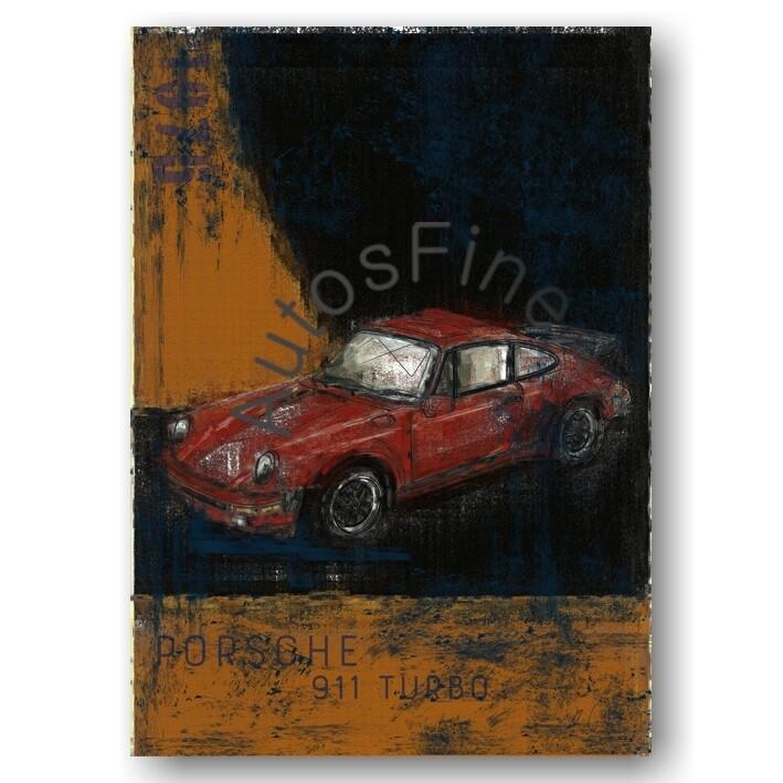Porsche 911 Turbo - Kunstdruck No. 145Plate