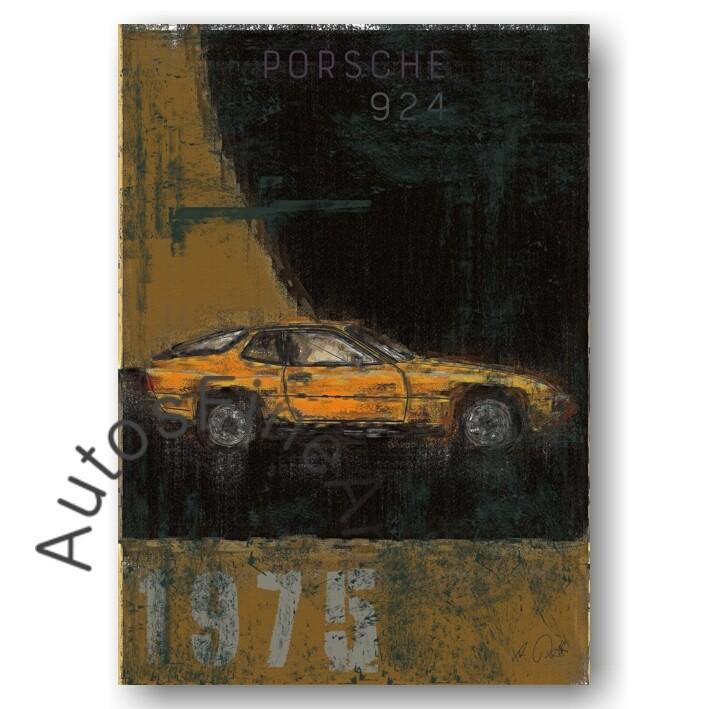 Porsche 924 - Kunstdruck No. 152Plate DIN A3