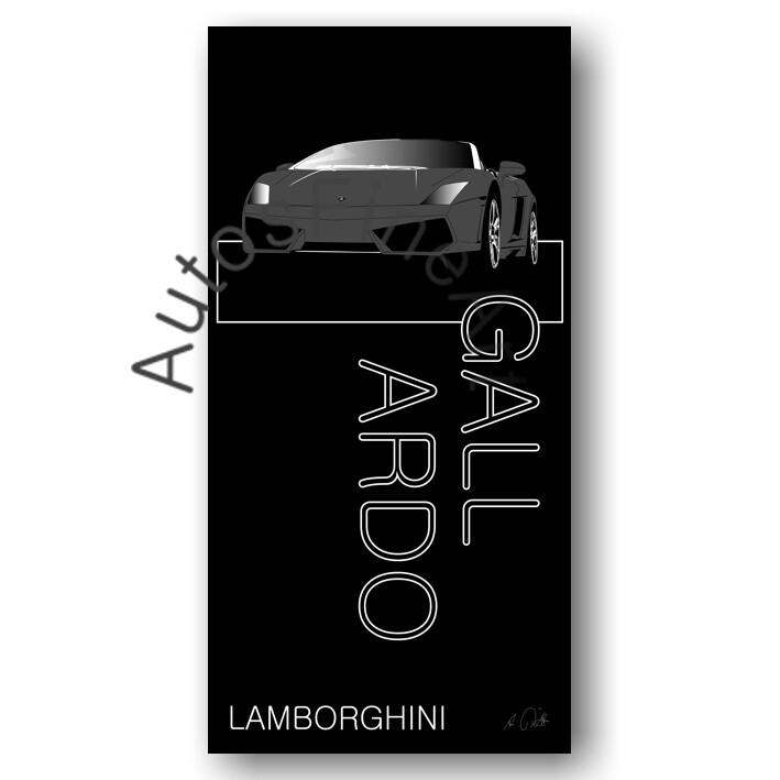 Lamborghini Gallardo - HD Aluminiumbild No. 12named sw