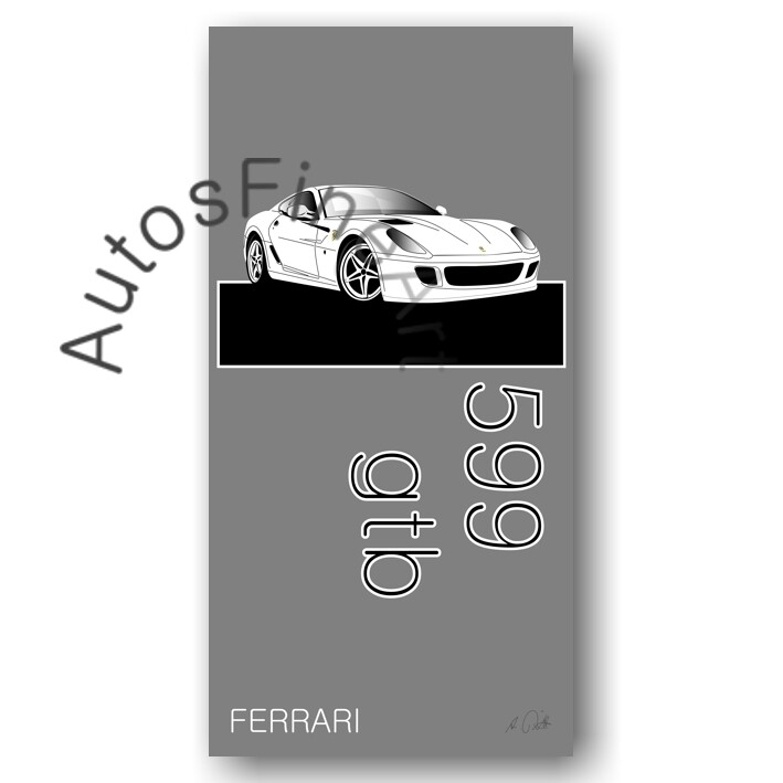 Ferrari 599 gtb - HD Aluminiumbild No. 13named sw