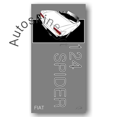 Fiat 124 Spider - Kunstdruck No. 31named