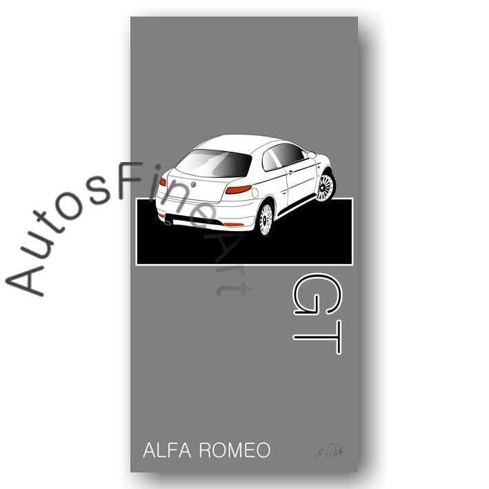 Alfa Romeo GT - HD Aluminiumbild No. 15named