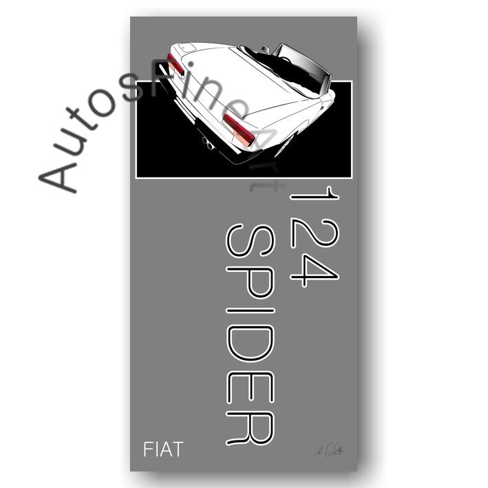 Fiat 124 Spider - HD Aluminiumbild No. 31named sw