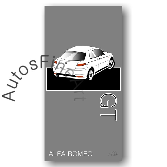 Alfa Romeo GT - Kunstdruck No. 15named