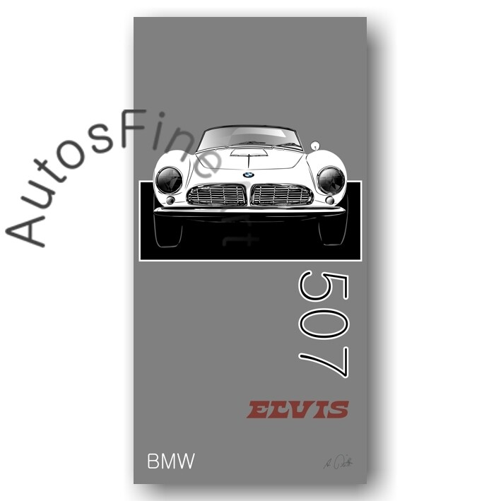 BMW 507 ELVIS - HD Aluminiumbild No. 138named