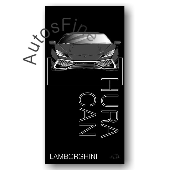 Lamborghini Huracan - HD Aluminiumbild No. 163named sw
