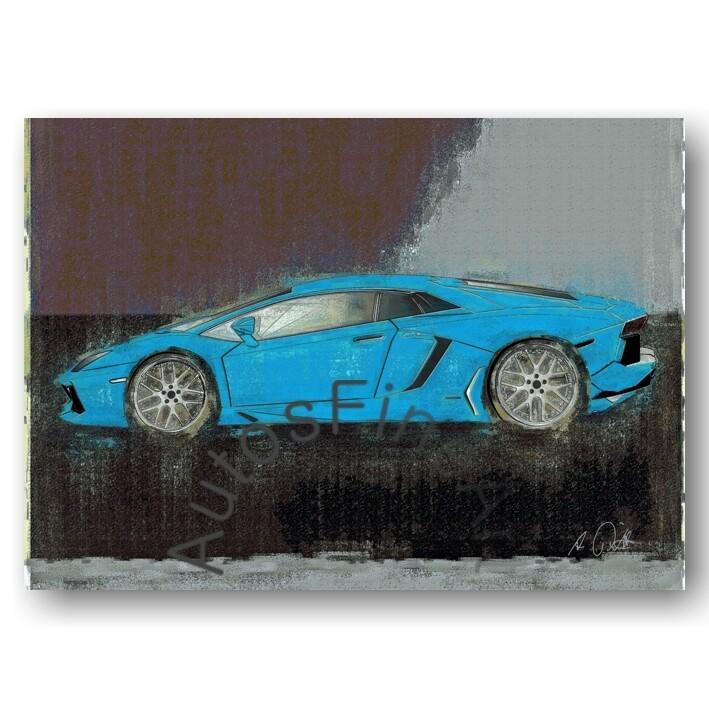 Lamborghini Aventador - Kunstdruck No. 155vintage