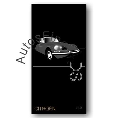 Citroen DS - Kunstdruck No. 121named sw