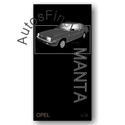 Opel Manta cc - Kunstdruck No. 164named sw