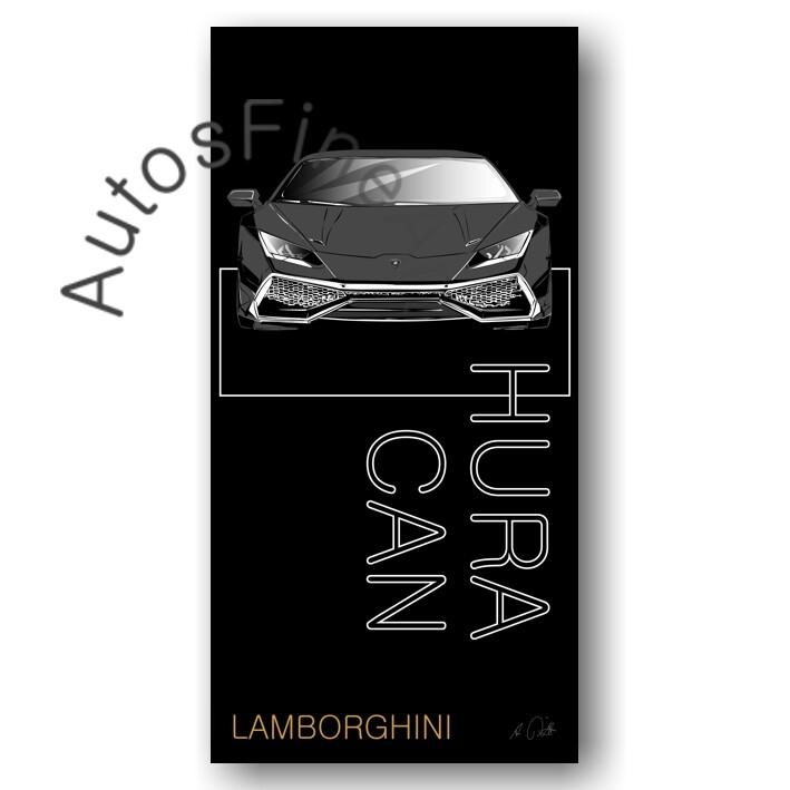 Lamborghini Huracan - Kunstdruck No. 163named sw