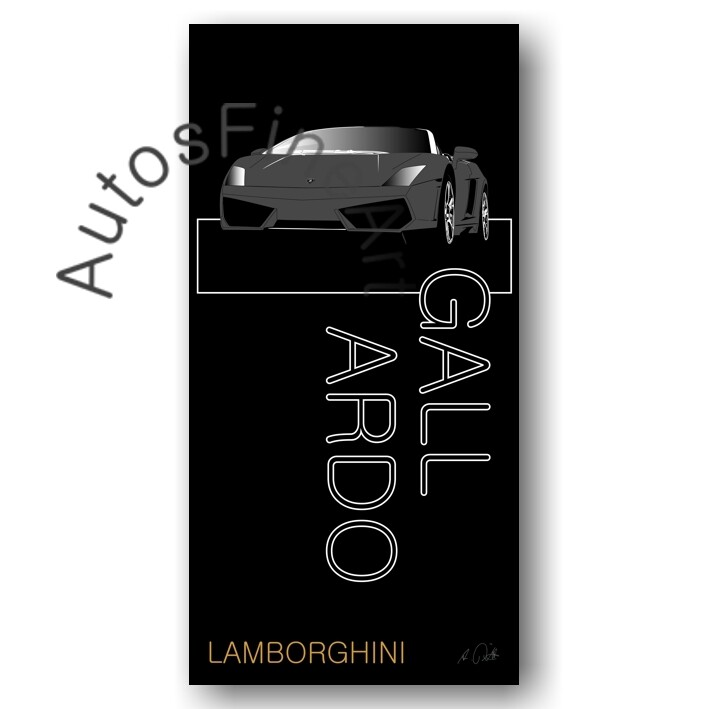 Lamborghini Gallardo - Kunstdruck No. 12named sw
