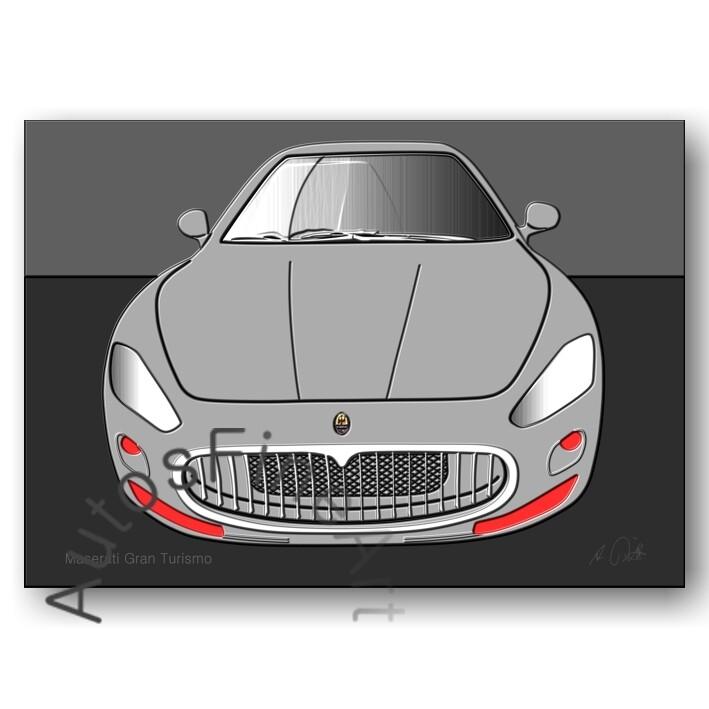 Maserati Granturismo - Kunstdruck No. 2up