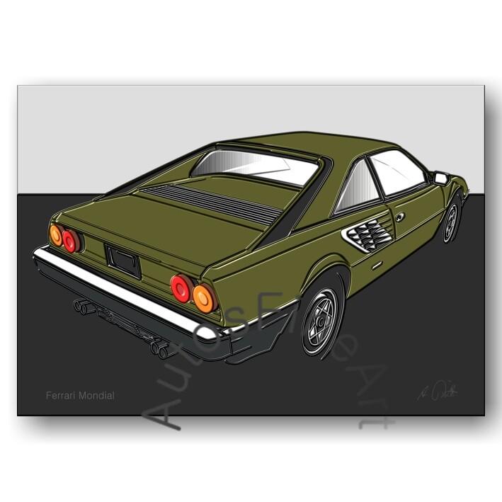 Ferrari Mondial - Kunstdruck No. 3up