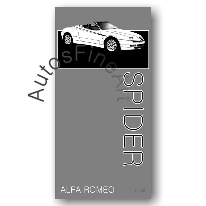 Alfa Romeo Spider - HD Aluminiumbild No. 171named