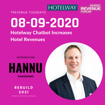 Trevenue Tuesday 8.9.2020 - Hotelway Chatbot increases hotel revenues