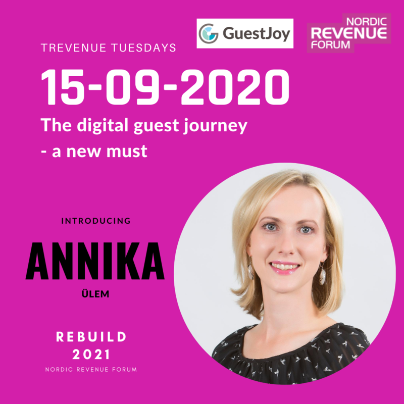 Trevenue Tuesday 15.9.2020 - The digital guest journey - a new must