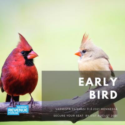 Hotellit - Hotels  Early Bird -lippu 28.10.2021 Early Bird ticket 28 Oct 2021