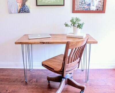 Hairpin Leg Mid Century Mod Industrial Desk / Table