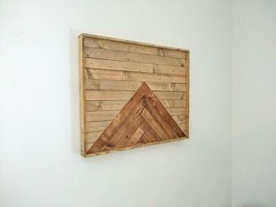 Geometric Chevron Lath Wood Wall Art