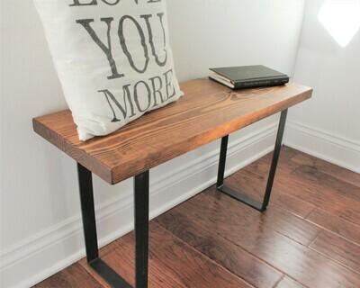 Wood Bench with U-Shape Legs