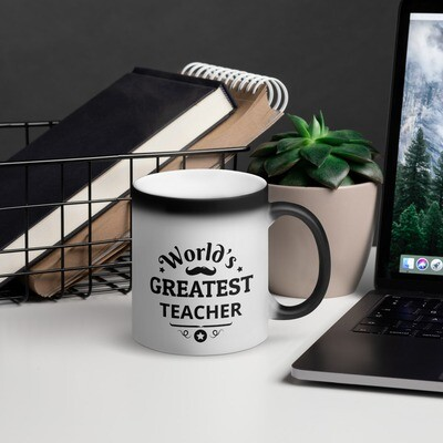 'World's Greatest' Matte Black Magic Mug