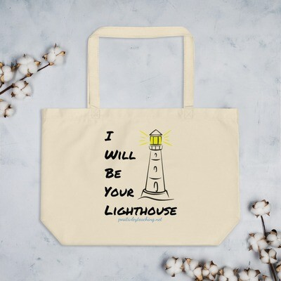 'Lighthouse' Large organic tote bag