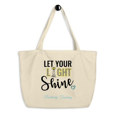 'Lighthouse 2' Large organic tote bag