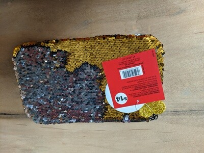Gold/Silver Sequin Pouch