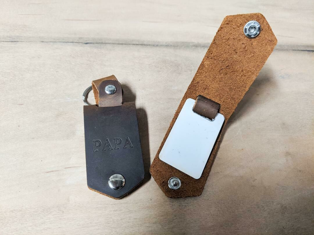 Additional Plates for Leather Key Chain - Sublimation