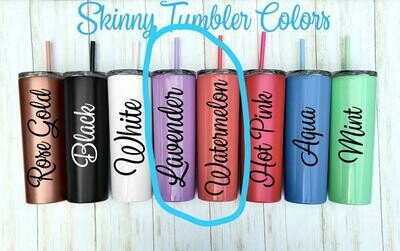 20oz Skinny Stainless Steel Tumblers (not sublimation) - By Sea