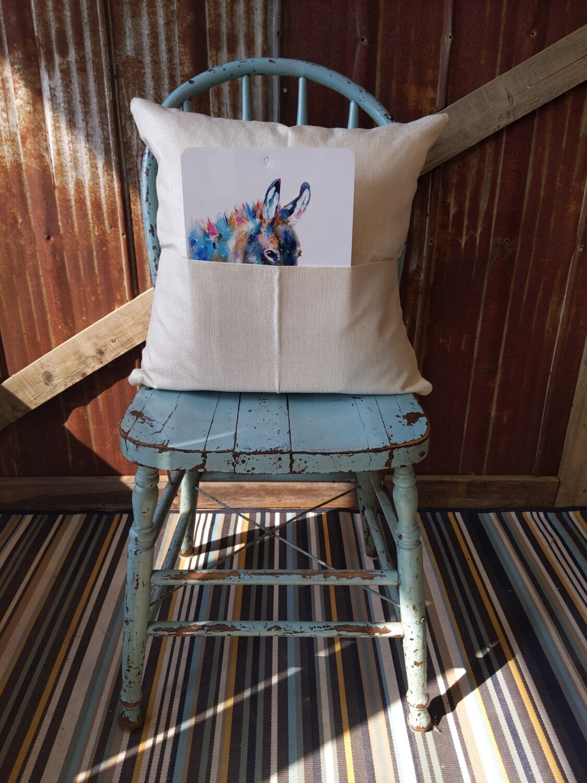 Pocket Pillow Case Linen Look - Sublimation