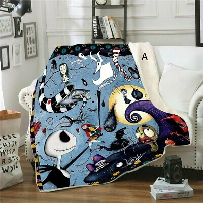 Nightmare Before Christmas Blankets (Sea)