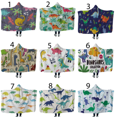 Dinosaur Hooded Blankets (Air)