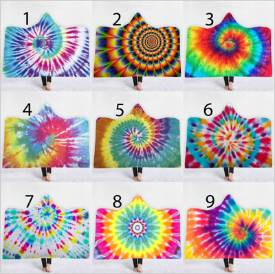 Tie Dye Hooded Blankets (Air)