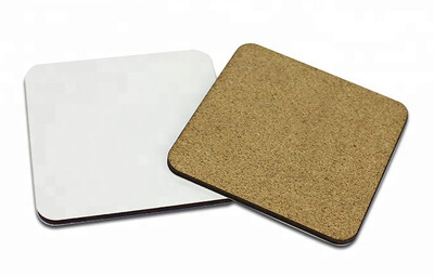 MDF Cork Backed Sublimation Coasters - 10 pack