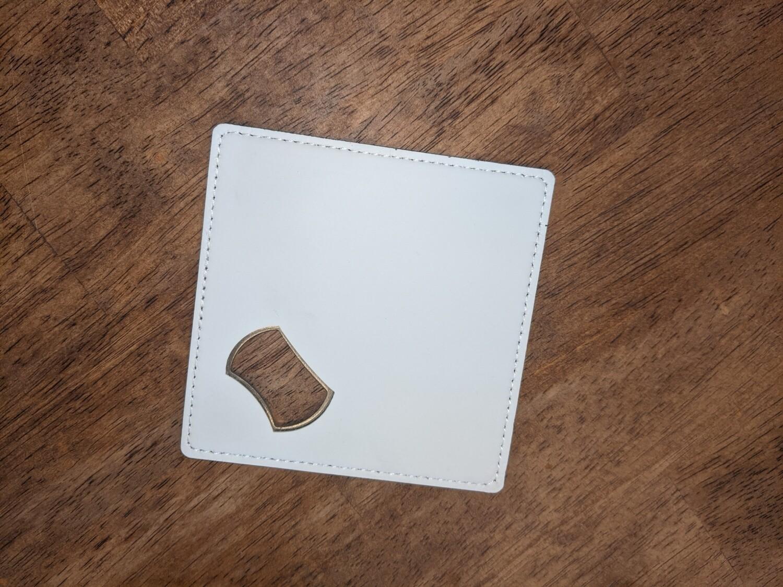 Sublimation Leather Wrapped Bottle Opener Coaster