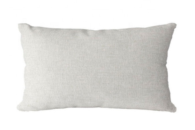 Linen Look Lumbar Pillow Cover - Sublimation