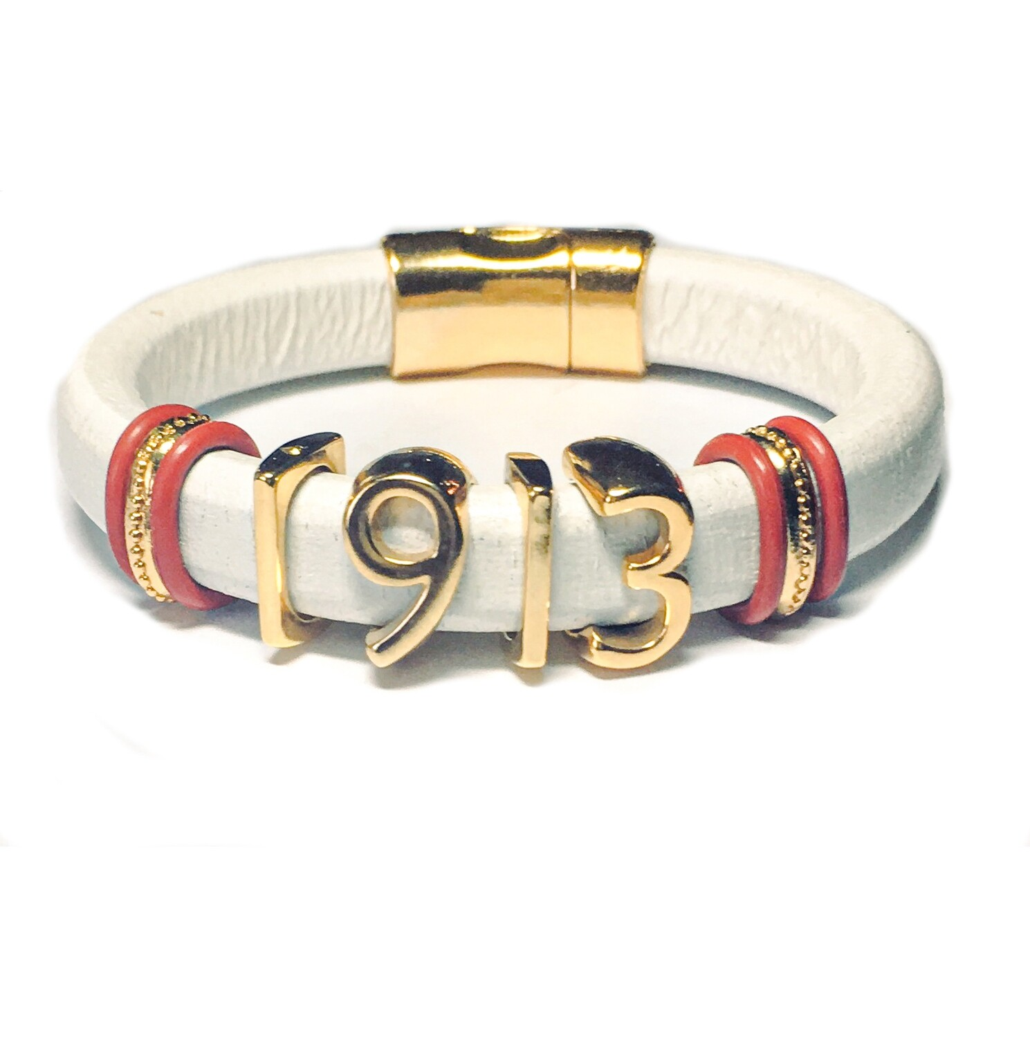 Bracelet | White And Gold 1913 Classy Creations Original