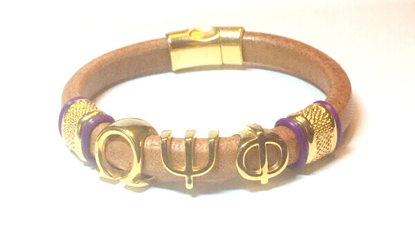 Bracelet/ Men's Omega Tan Leather