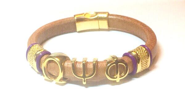 Bracelet/ Men's Omega Tan Leather